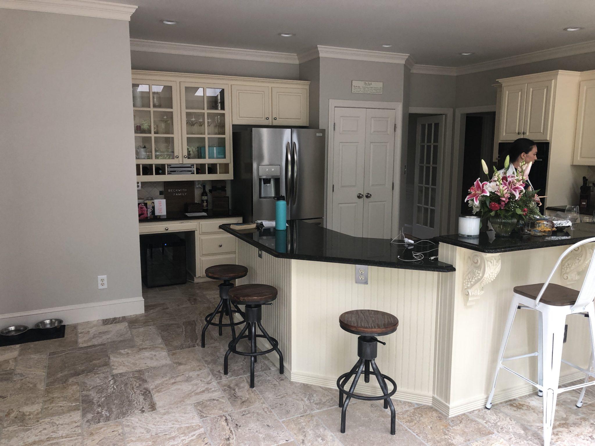 Greek Villa Kitchen Cabinets - 2 Cabinet Girls