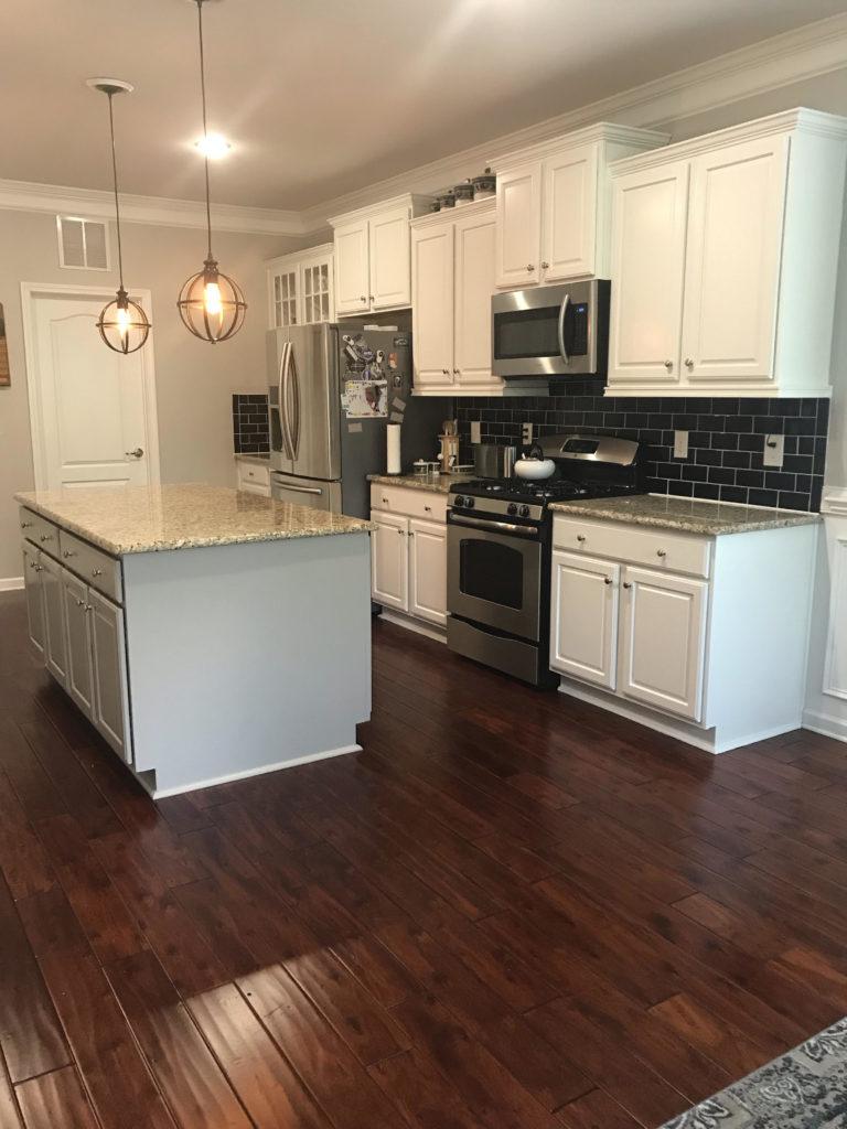 Pure White + Mega Greige Kitchen Cabinets - 2 Cabinet Girls